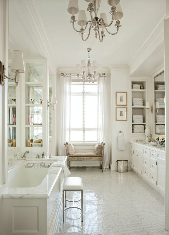 Luxury contemporary white bathroom