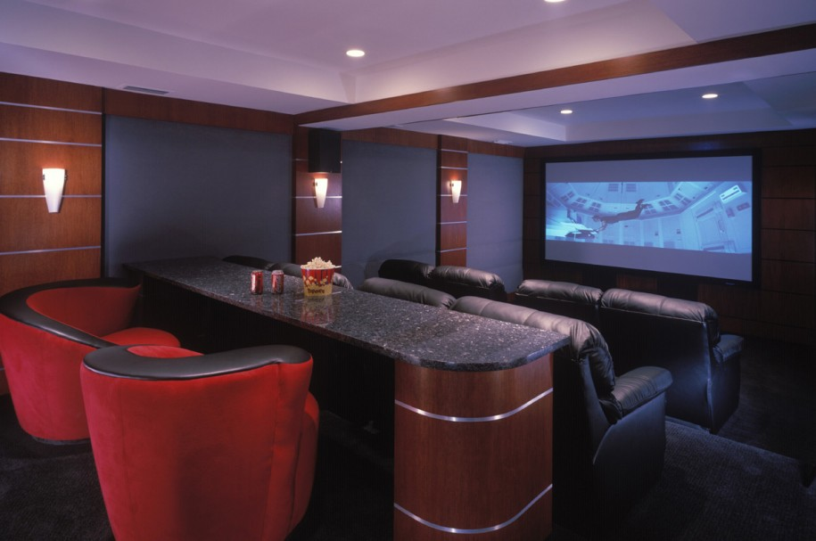 25 inspirational modern home movie theater design ideas for Home theater basement design ideas