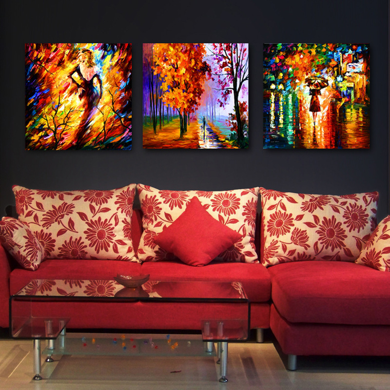 modern oil canvas painting for living room wall art prints walking