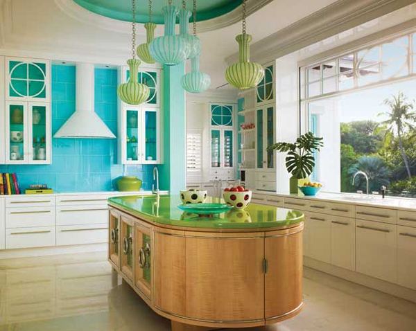 Ocean color Tropical Kitchen