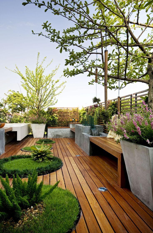 Roof deck garden
