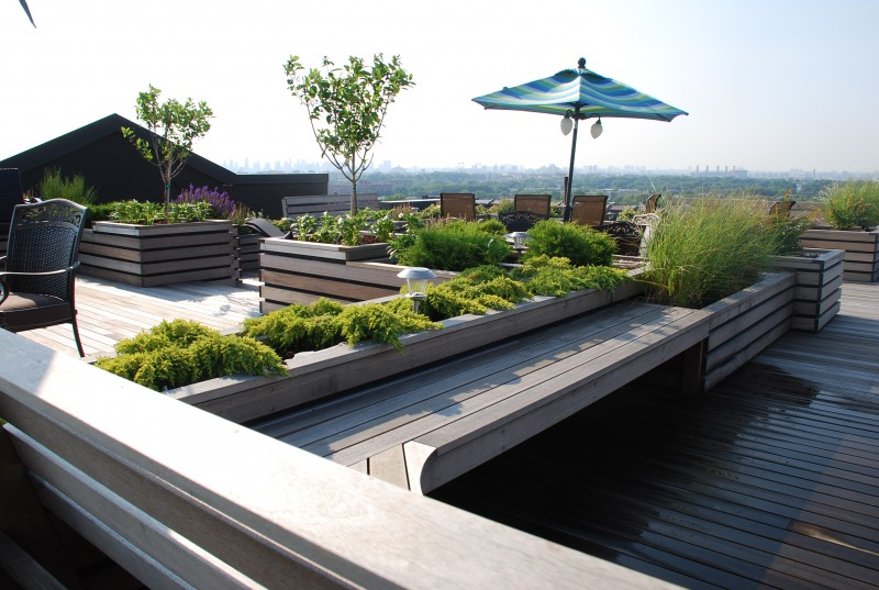 25 beautiful rooftop garden designs to get inspired for Rooftop garden designs