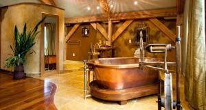20 Rustic Bathroom Designs With Copper Bathtub