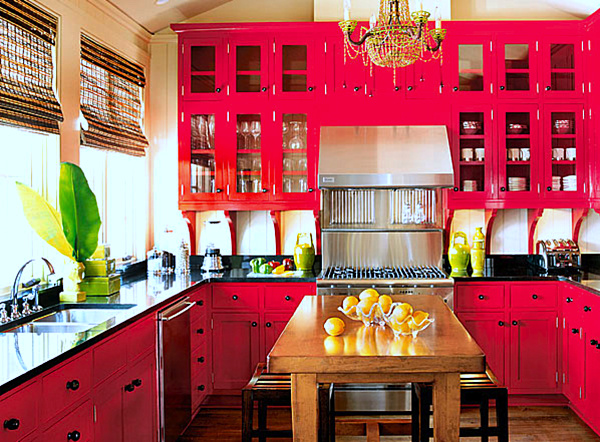 Small Bright Tropical Kitchen