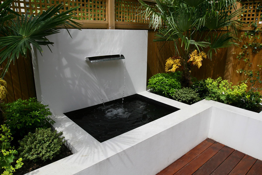 25 peaceful small garden landscape design ideas for Waterfall design for small garden
