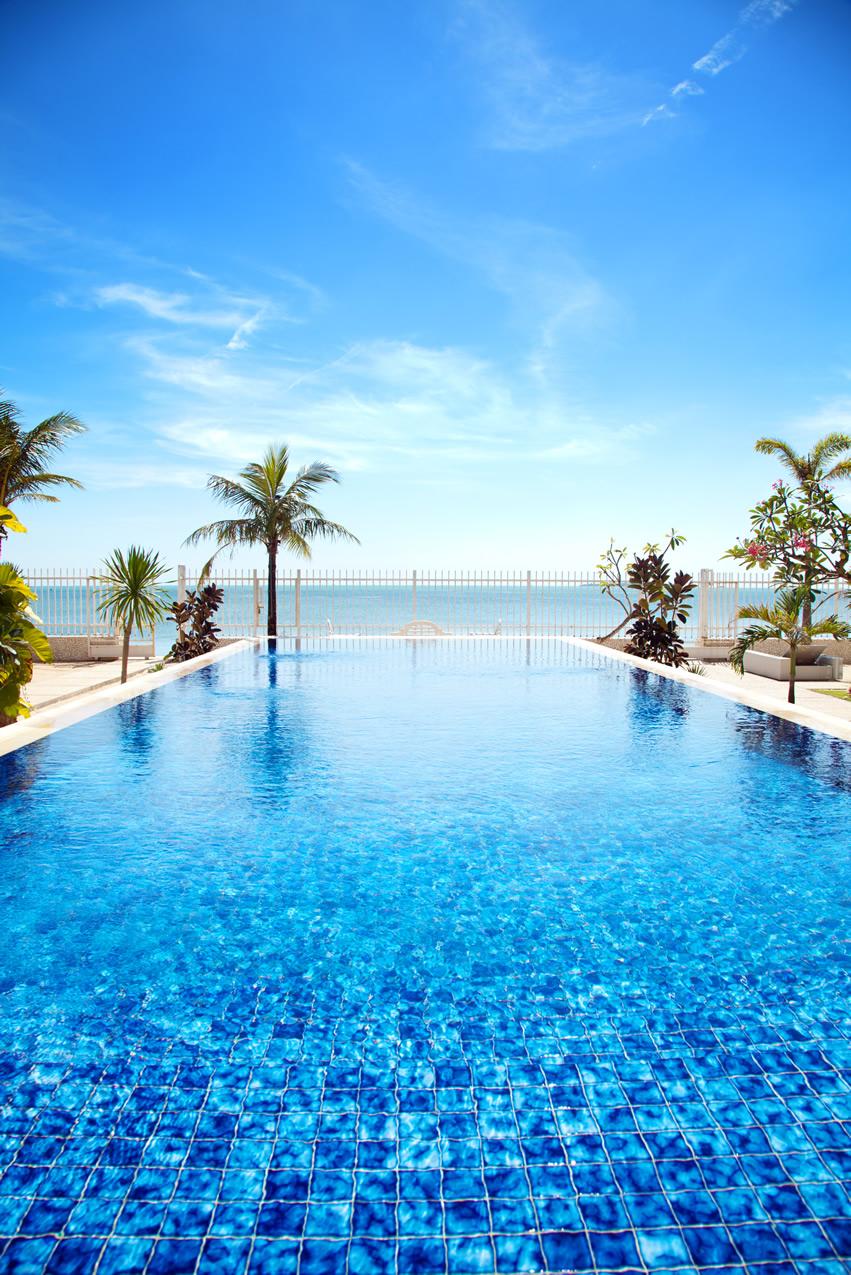Tropical Pool Overlooking Ocean