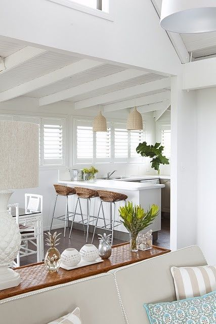 Tropical White Kitchen