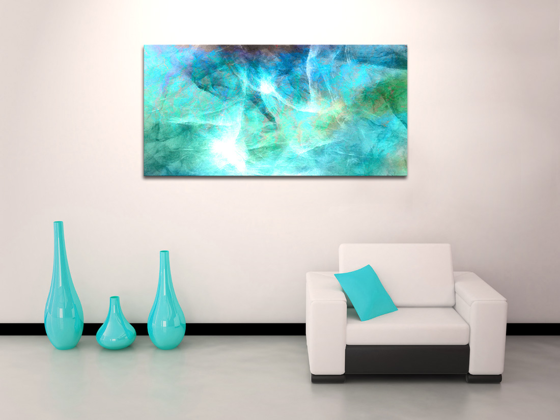 Teal Canvas Wall Art living room canvas art