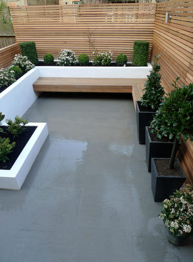 25 peaceful small garden landscape design ideas for Garden decking design ideas