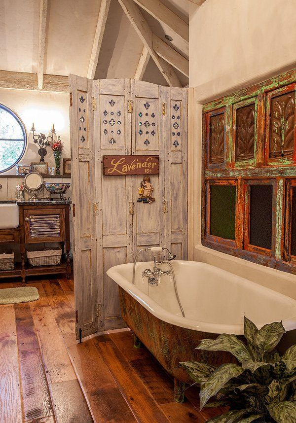 30 shabby chic bathroom design ideas to get inspired for Bathroom decor inspiration