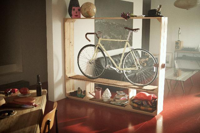 shoes books and a bike