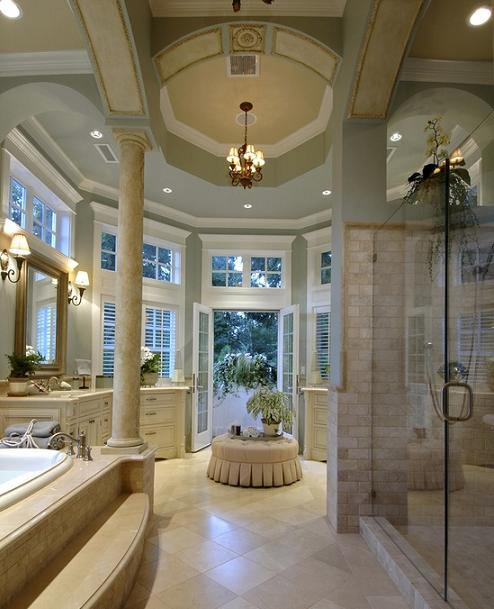 How to design a luxurious master bathroom for Bathroom designs for big bathrooms