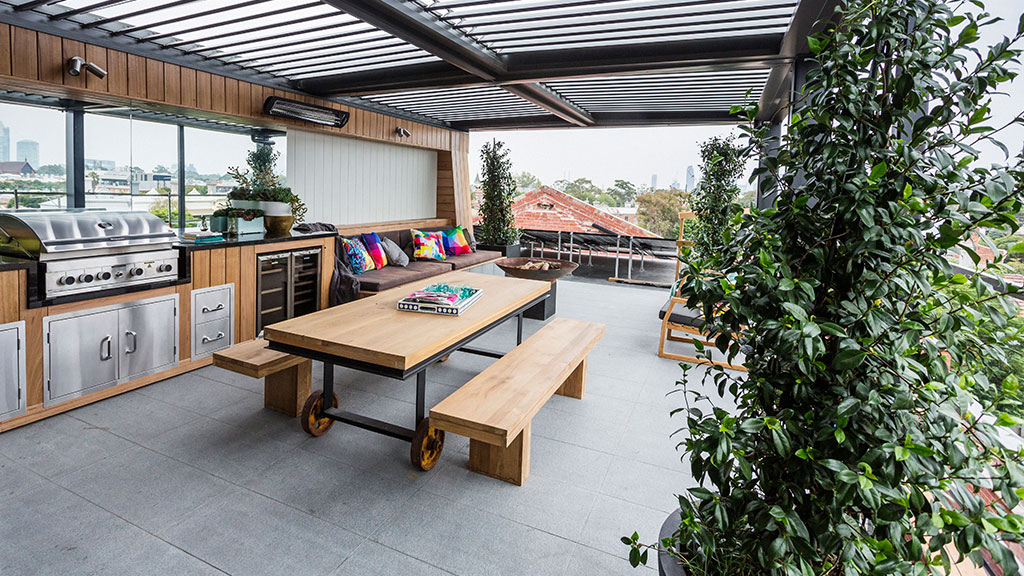 15 modern outdoor kitchen designs for summer relaxation for Terrace kitchen ideas