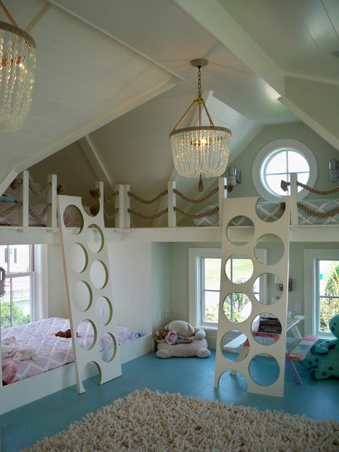26 cute beach style kid 39 s bedroom design ideas. Black Bedroom Furniture Sets. Home Design Ideas