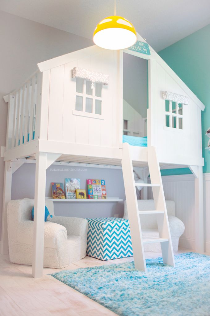 bedroom design ideas for kids. Beautiful indoor cubby house beach style for kids 26 Cute Beach Style Kid s Bedroom Design Ideas