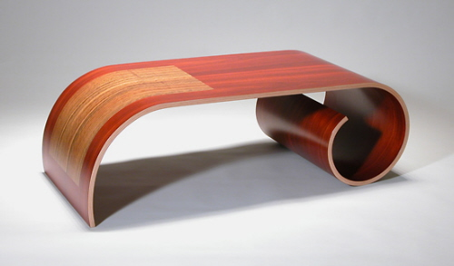Bent Wood Contemporary Coffee Table