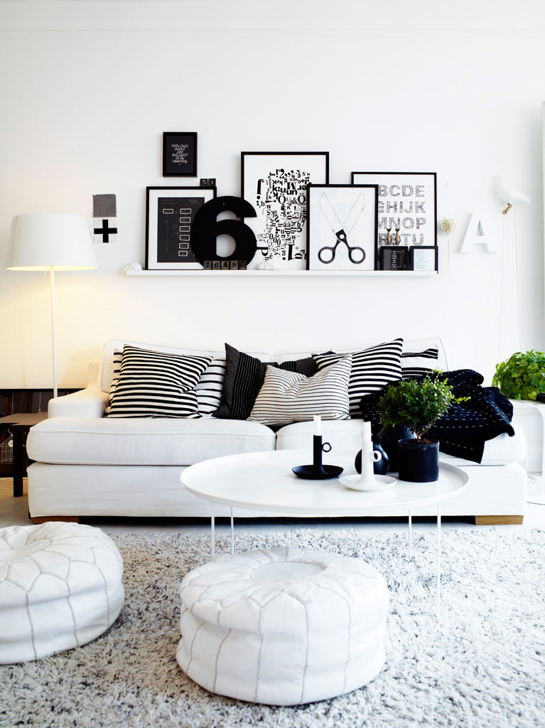 Black-and-White-Contemporary-Interior