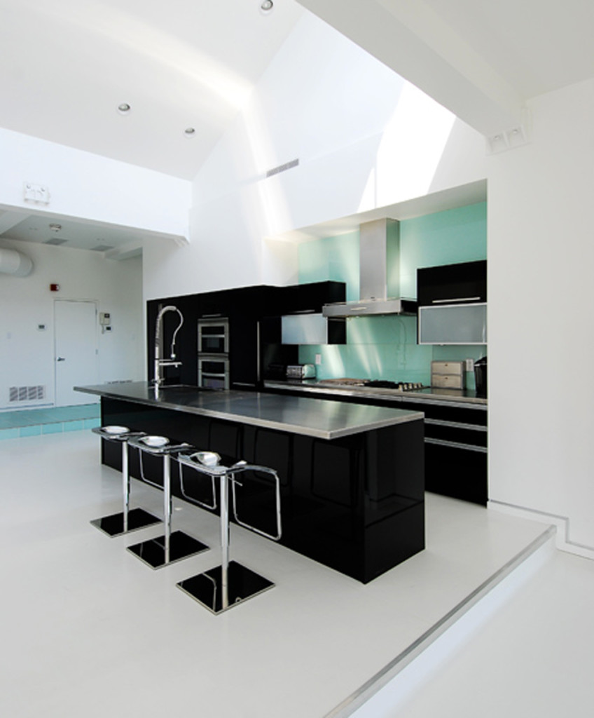 Glossy Dark Brown Modular Kitchen