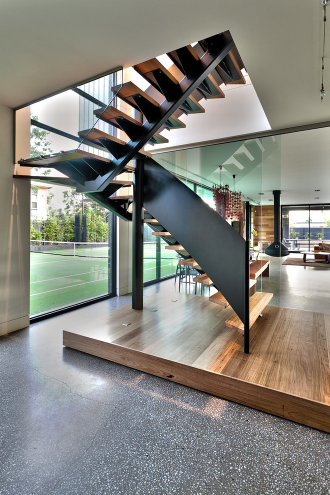 Chic Floating Staircase