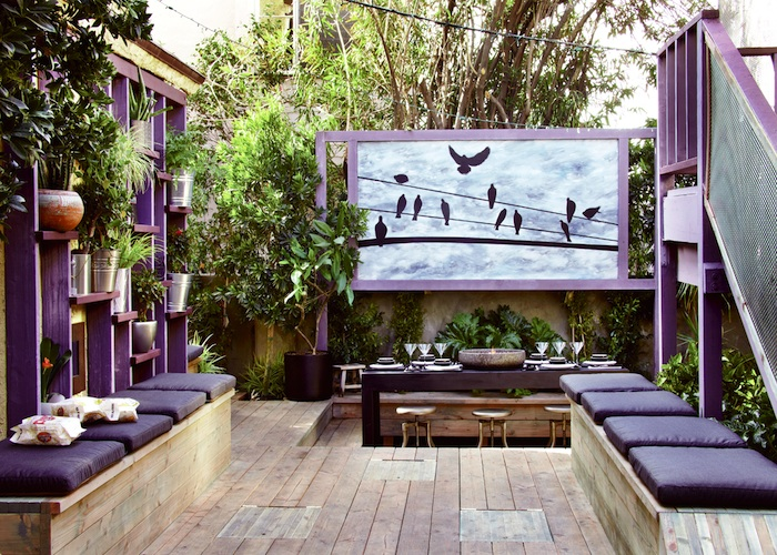 25 great ideas for creating a unique outdoor dining Outside rooms garden design