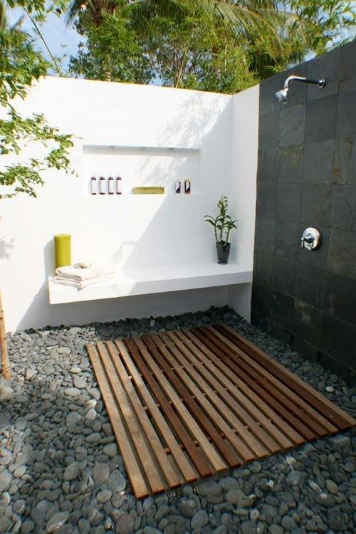 Concrete Outdoor shower