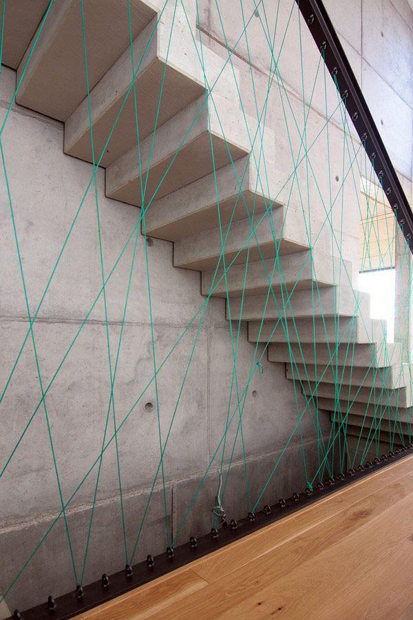 Concrete and Cord Crisscrossing
