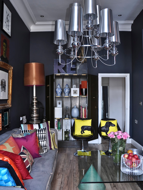Top 15 Quirky Room Decor Ideas To Get Inspired : Contemporary Apartment living area from www.dwellingdecor.com size 500 x 666 jpeg 143kB