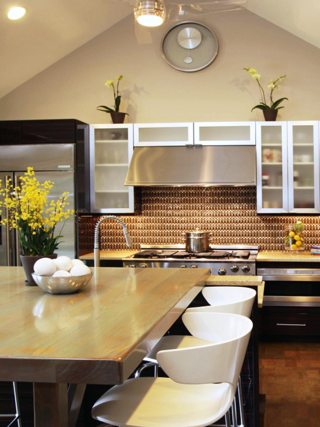 Contemporary-Kitchen with dining inside