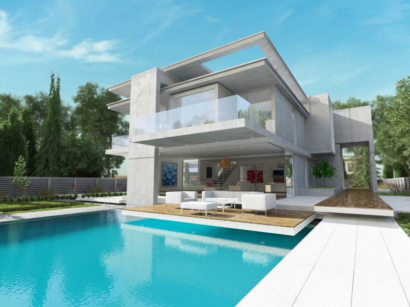 Contemporary-house-with-pool