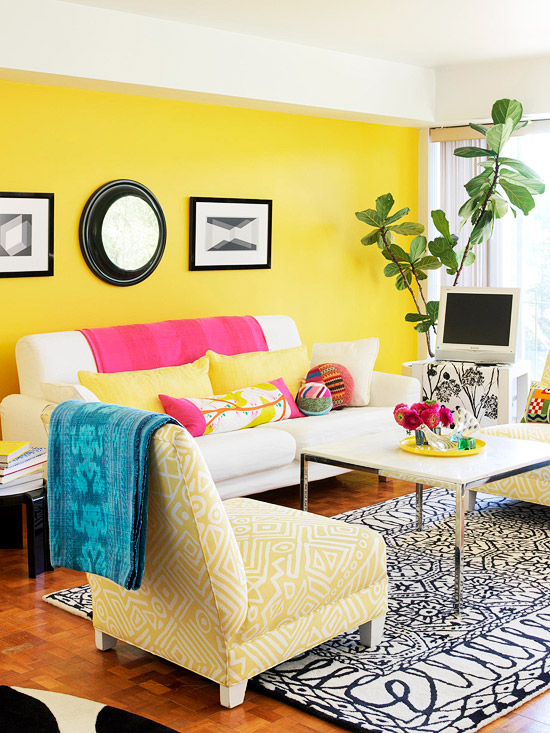 Cozy Yellow Living Room Ideas