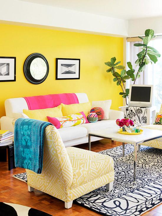 Cozy Yellow Living Room Ideas