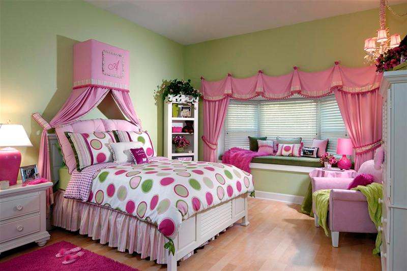 cute pink teen girls rooms interior design 6