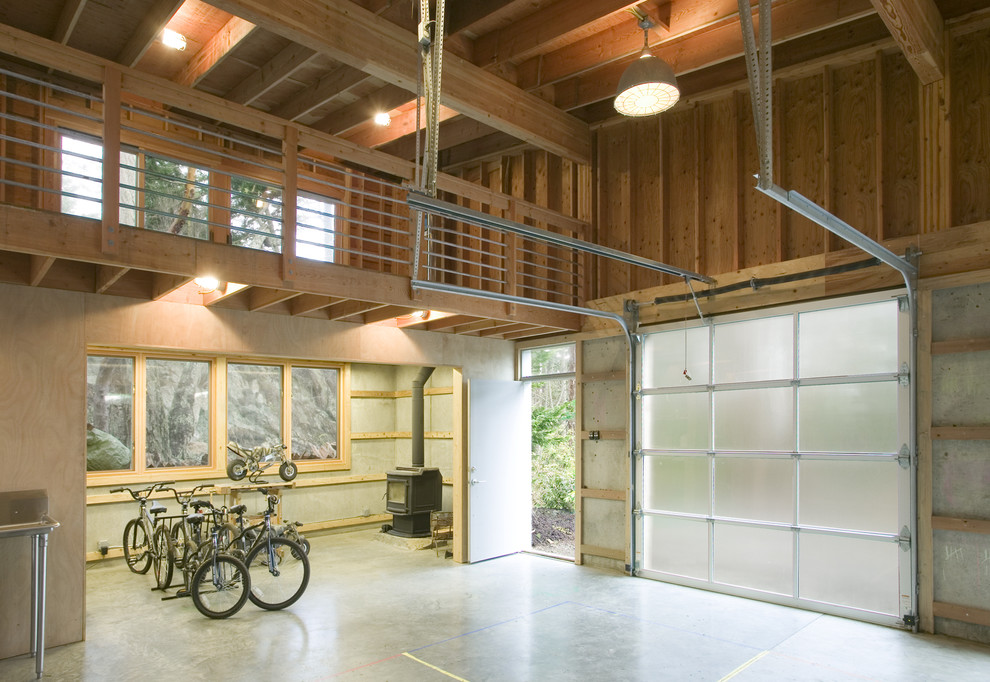 20 industrial garage designs to get inspired for Two car garage with loft apartment