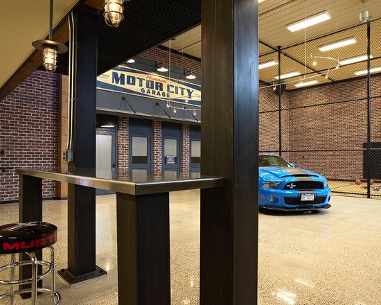 Industrial-eclectic-garage