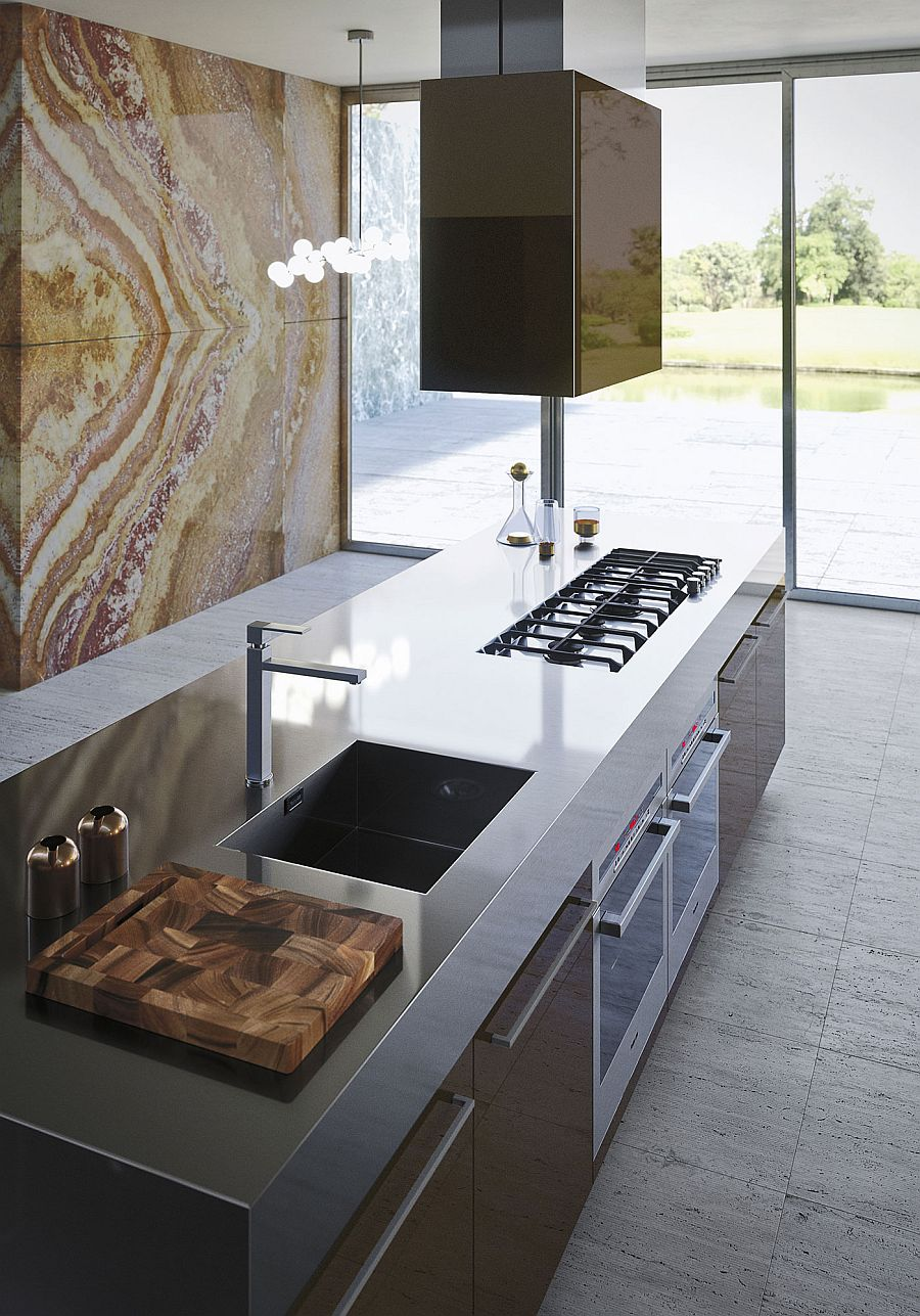 Italian style contemporary functional kitchen