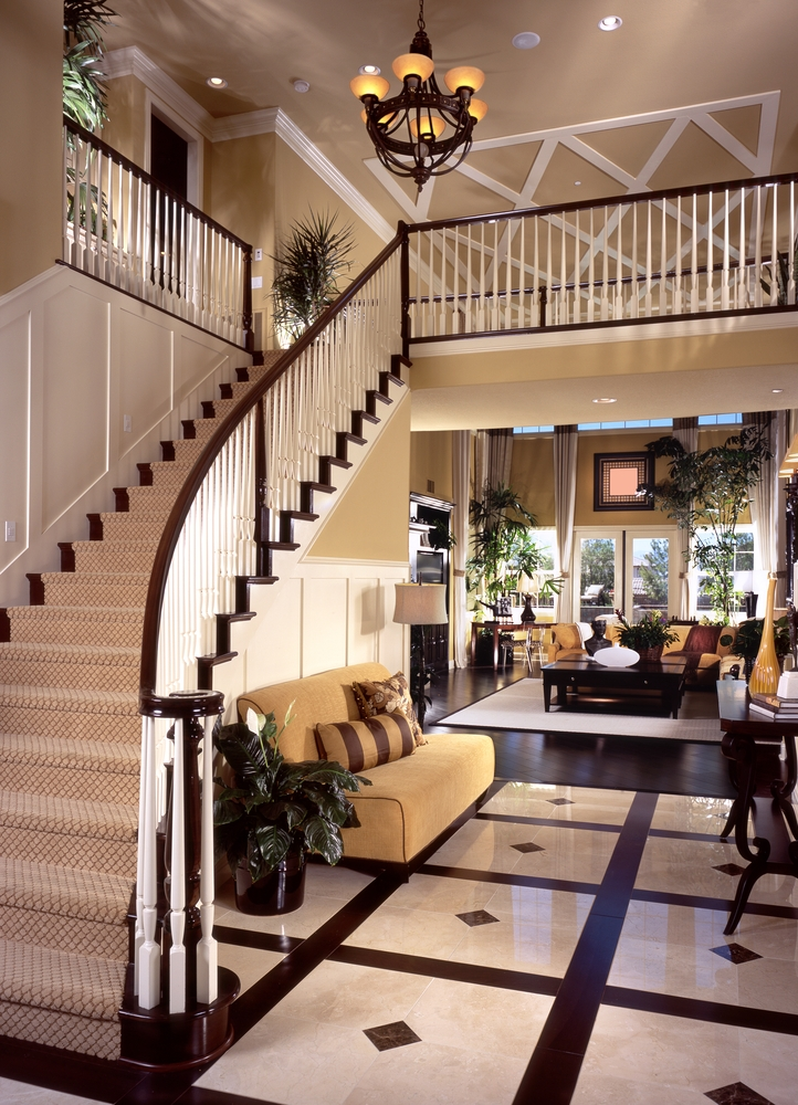 Landing stairs in front of foyer