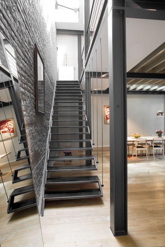 Loft ladder staircase