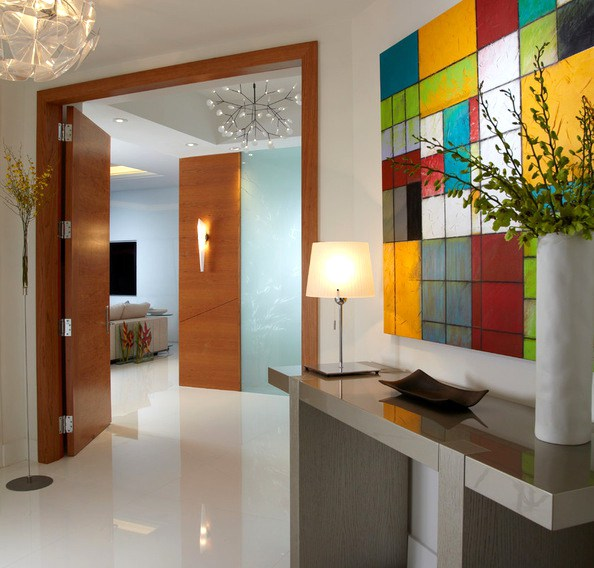 Miami beach house contemporary entry