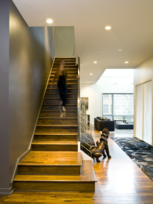 Modern Basement Stair Landing Design