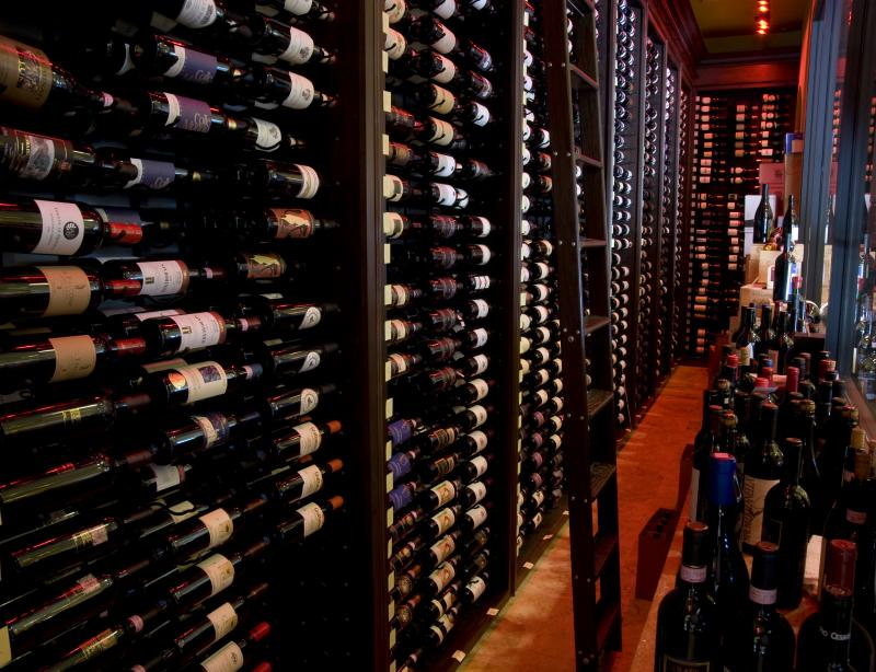 Modern Italian wine room