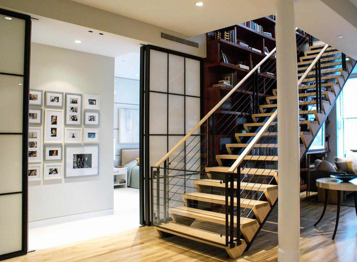 Modern Loft Hallway Stairs