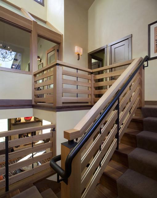 Modern Stairwell landing view