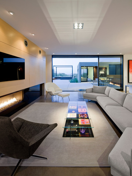 Modern Living Room Dominated By Neutral Colors: 35 Amazing Modern Living Room Design Collection