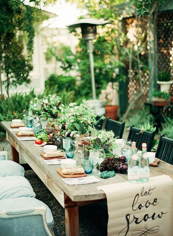 25 great ideas for creating a unique outdoor dining for Dining room theme ideas