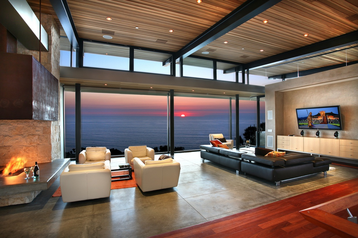 Panoramic-ocean-view-modern-living-room