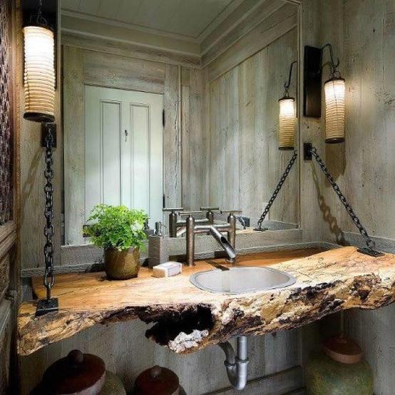 Reclaimed Wood Bathroom Sink