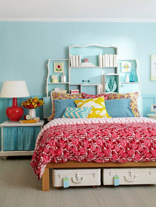 30 Colorful Girls Bedroom Design Ideas You Must Like on Teenage Simple Bedroom Ideas For Small Rooms  id=53417