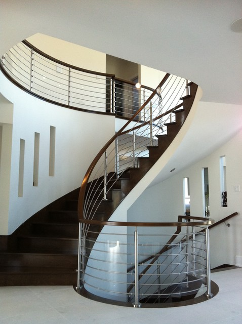 Stainless Steel modern staircase