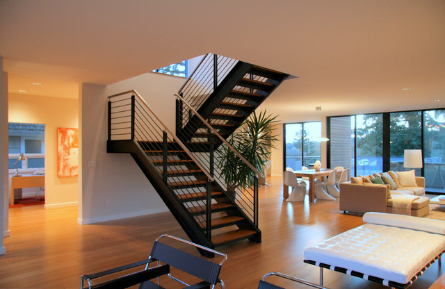 Steel staircase modern-staircase