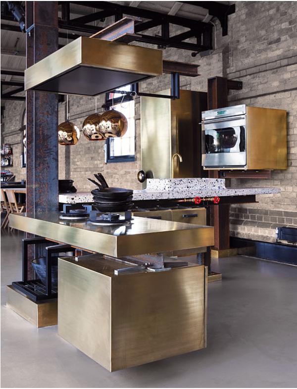 Tom-Dixon-brass-kitchen